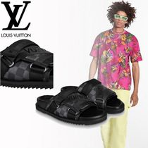 Louis Vuitton Street Style Leather Shower Shoes Flipflop Logo