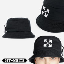 Off-White Unisex Street Style Wide-brimmed Hats