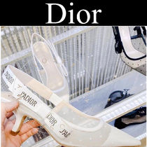 Christian Dior JADIOR Dots Casual Style Blended Fabrics Street Style Leather