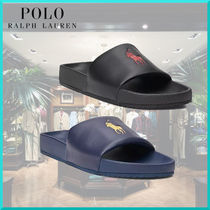 Ralph Lauren Street Style Plain Shower Shoes Logo Shower Sandals
