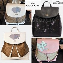 Coach SIGNATURE Flower Patterns Casual Style Blended Fabrics Collaboration