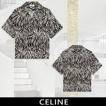 CELINE Short Sleeves Front Button Shirts