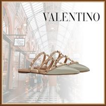 VALENTINO Casual Style Studded Elegant Style Sandals Sandal