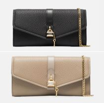 Chloe ABY 2WAY Chain Plain Leather Party Style Party Bags