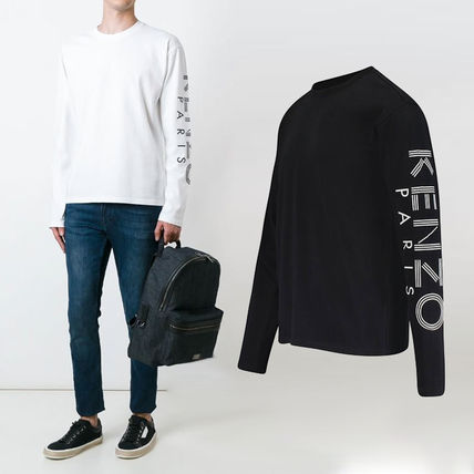KENZO More T-Shirts Crew Neck Pullovers Unisex Street Style Long Sleeves