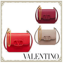 VALENTINO  VSLING Casual Style Calfskin Party Style Elegant Style Crossbody