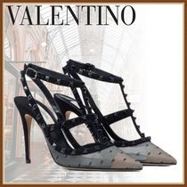 VALENTINO Casual Style Studded Plain Party Style Elegant Style