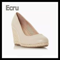 Dune LONDON Round Toe Plain Formal Style  Wedge Pumps & Mules