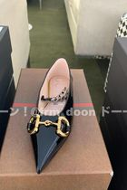 GUCCI Chain Plain Pointed Toe Shoes