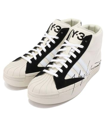 Stripes Street Style Collaboration Leather Sneakers