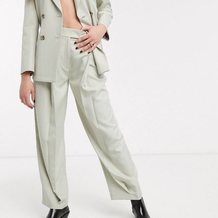 TOPSHOP Plain Long Party Style Office Style Center Pressed
