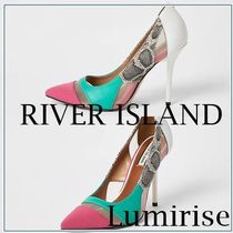 River Island Casual Style Faux Fur Other Animal Patterns Pin Heels