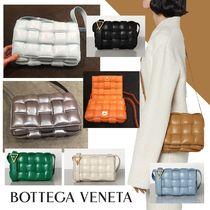 BOTTEGA VENETA CASSETTE Other Plaid Patterns Casual Style Unisex Calfskin Lambskin