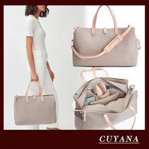 CUYANA A4 Plain Leather Crossbody Logo Boston & Duffles