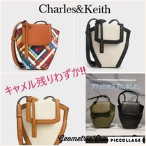 Charles&Keith Casual Style Canvas Faux Fur Blended Fabrics Plain