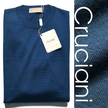 Crew Neck Pullovers Cashmere Silk Sweaters