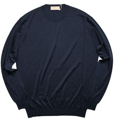 Crew Neck Cashmere Silk Sweaters
