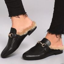 Steve Madden Blended Fabrics Plain Loafer & Moccasin Shoes