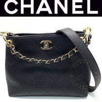 CHANEL MATELASSE Casual Style Calfskin Blended Fabrics Street Style 2WAY