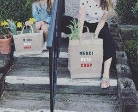 Casual Style Collaboration Logo Totes