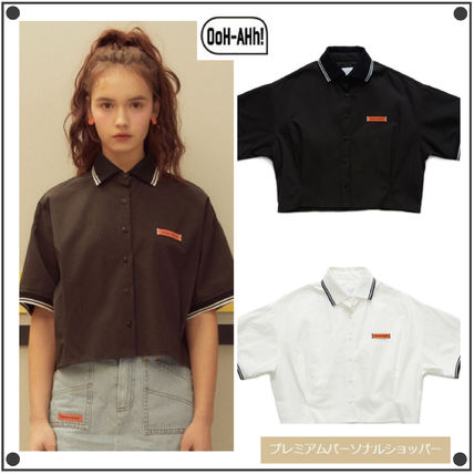 Short Street Style Cotton Short Sleeves Cropped