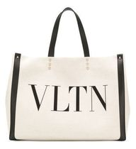 VALENTINO Casual Style Unisex Canvas Street Style A4 Plain