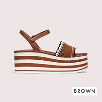 kate spade new york Stripes Open Toe Casual Style Platform & Wedge Sandals