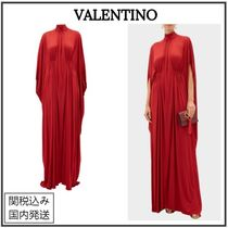VALENTINO Maxi Plain Long Party Style Elegant Style Formal Style
