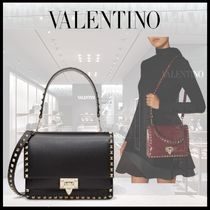 VALENTINO Casual Style Calfskin Studded 2WAY Chain Party Style
