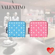VALENTINO Other Check Patterns Street Style Leather Long Wallet