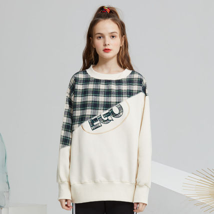 Other Plaid Patterns Street Style Bi-color Long Sleeves