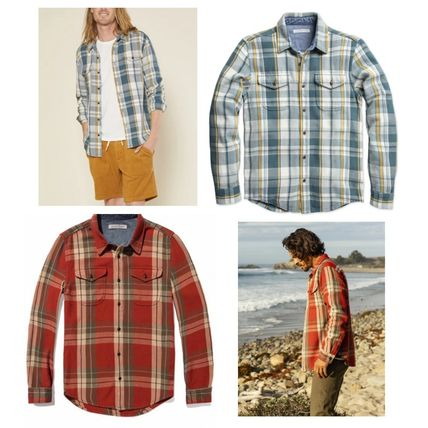 Outer known Shirts Long Sleeves Cotton Surf Style Shirts