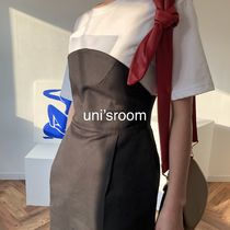 Pencil Skirts Casual Style Plain Medium Long Office Style