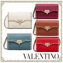 VALENTINO Casual Style Calfskin Party Style Elegant Style Crossbody