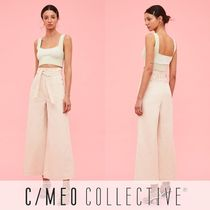 Cameo the Label Denim Plain Cotton Long Wide & Flared Jeans