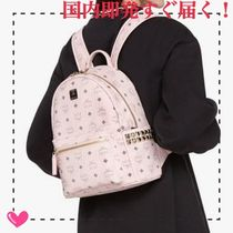 MCM Monogram Casual Style Street Style A4 PVC Clothing