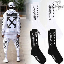 Off-White Street Style Plain Cotton Logo Undershirts & Socks