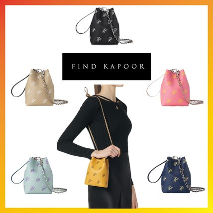Casual Style 2WAY Chain Purses Elegant Style Bucket Bags