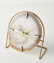 Anthropologie Blended Fabrics Handmade With Jewels Icy Color Clocks