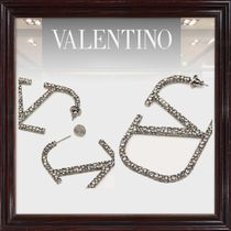VALENTINO Casual Style Party Style Silver Office Style Elegant Style