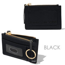 MARC JACOBS Street Style Plain Leather Small Wallet Logo Card Holders