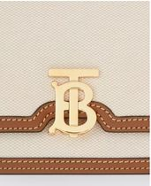 Burberry Plain Leather Logo Shoulder Bags