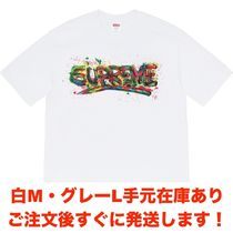 Supreme Crew Neck Cotton Short Sleeves Oversized Logo