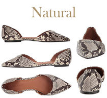 Coach Rubber Sole Plain Leather Elegant Style Pointed Toe Shoes
