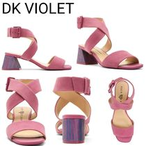 Katy Perry Open Toe Casual Style Plain Block Heels Party Style Sandals