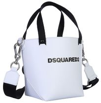 D SQUARED2 Casual Style 2WAY Leather Elegant Style Crossbody Totes