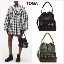 TOGA Casual Style Studded Street Style Collaboration 2WAY Plain