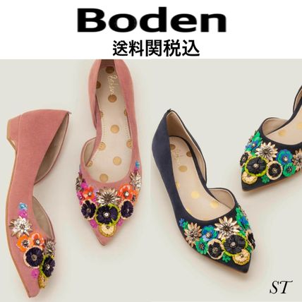 Flower Patterns Dots Casual Style Suede Plain Elegant Style