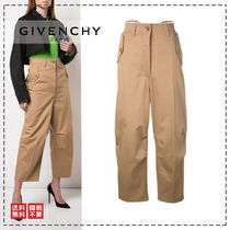 GIVENCHY Casual Style Plain Cotton Office Style Wide Leg Pants