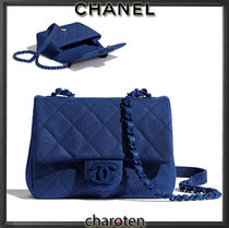 CHANEL MATELASSE Casual Style Calfskin 3WAY Chain Plain Leather Party Style